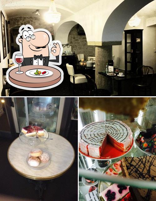Еда и внутреннее оформление в La Caffé