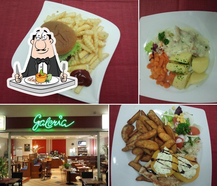 Essen im Restaurant Galeria Freital