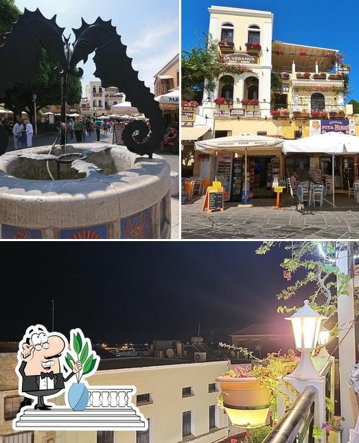 The photo of exterior and fries at La Veranda