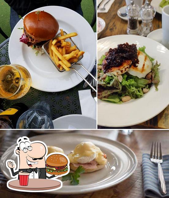 Get a burger at Henry's Kitchen