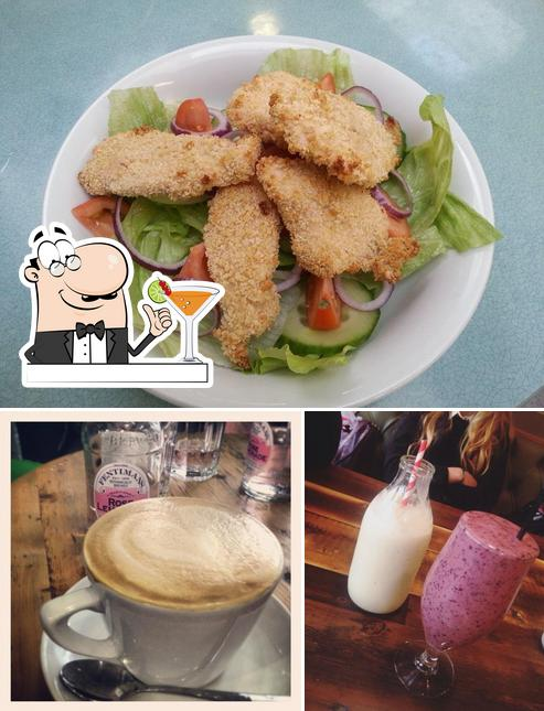 Among different things one can find drink and food at Olive & Bean
