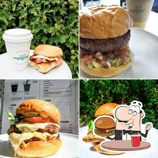 Get a burger at Kopi N Teh