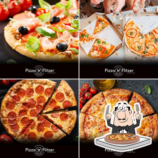 Bestellt verschiedene Arten von Pizza
