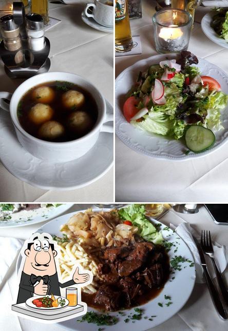 Essen im Waldgasthof Gundelhard