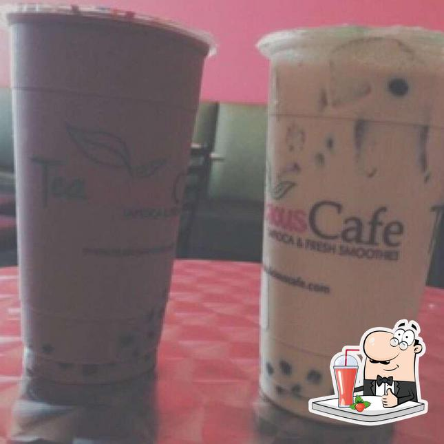 Enjoy a drink at TeaLicious Cafe