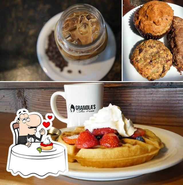 Granola's Coffee House offers a selection of desserts