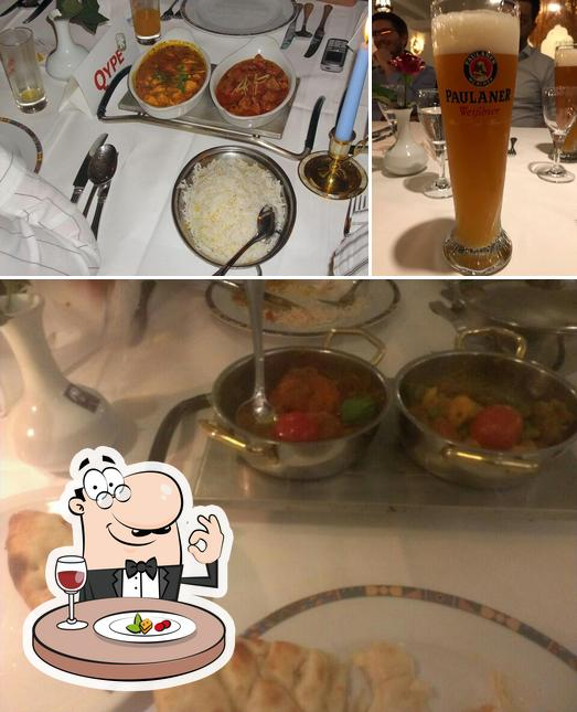 The photo of food and beer at Lahore Palace