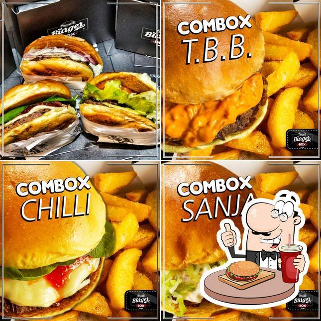 Delicie-se com um hambúrguer no The Burger Box