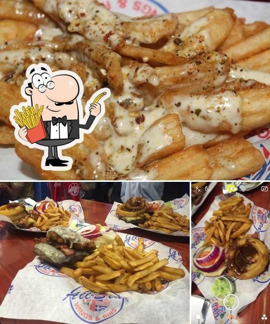 Taste French fries at AllStar Wings & Ribs