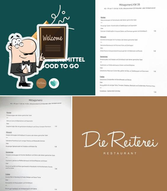 See this picture of Die Reiterei