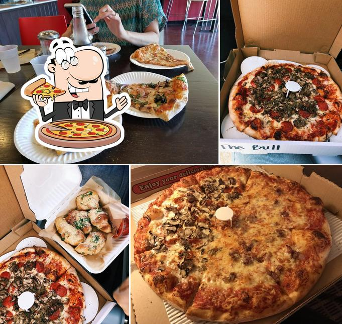 Order pizza at Verrazzano Pizza