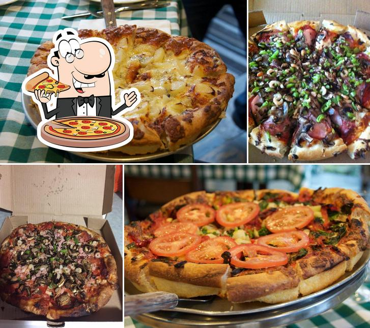 Try out pizza at Stromboli Inn