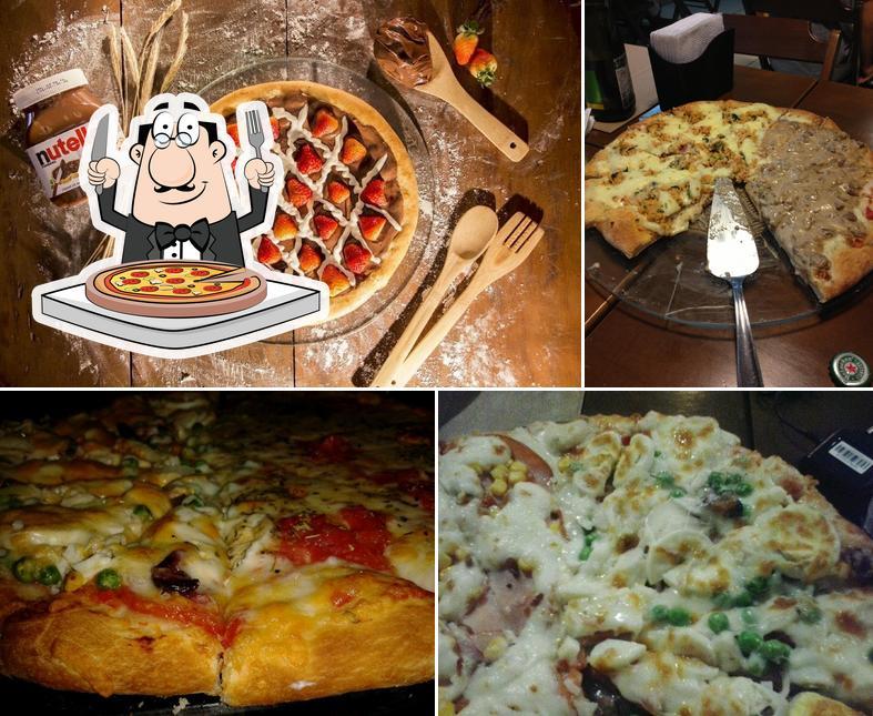 Escolha pizza no Verace Pizza