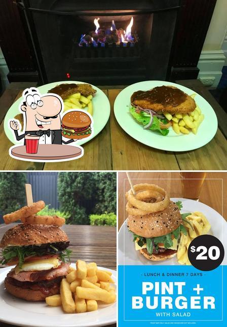 Order a burger at Grosvenor Hotel
