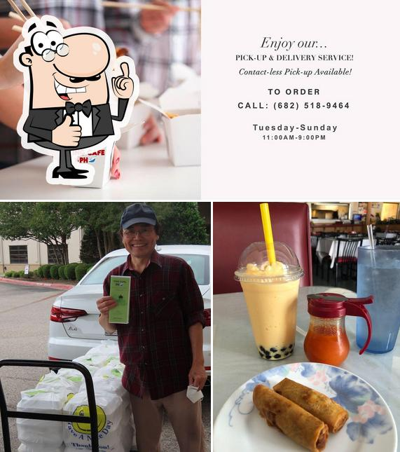 See this picture of Ying Cafe & Pho