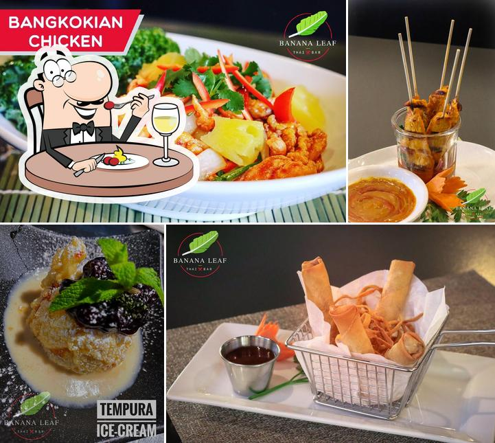 Food at Banana Leaf Thai Restaurant + Bar