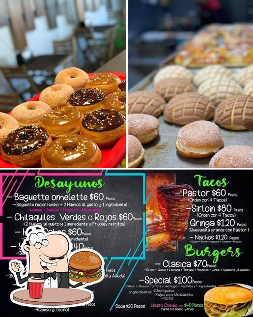 Order a burger at YYZ Bakery