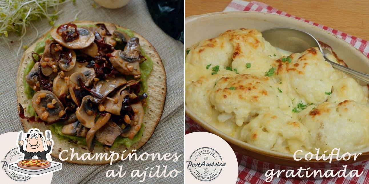 Elige una pizza en Port América Restaurante Cafetería