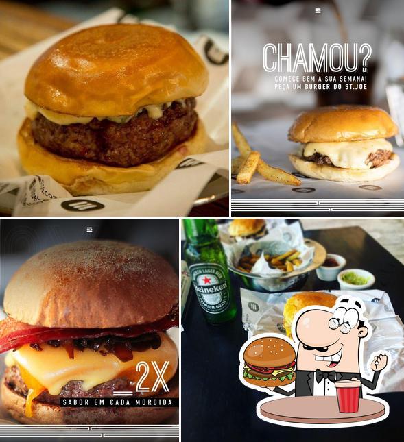 Os hambúrgueres do Saint Joe Burgerhouse irão satisfazer diferentes gostos