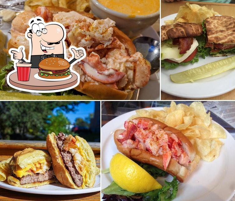 Order a burger at Side Street Cafe