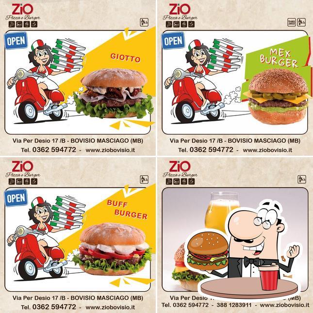 Ordina un hamburger a Zio Pizza e Burger Bovisio Masciago