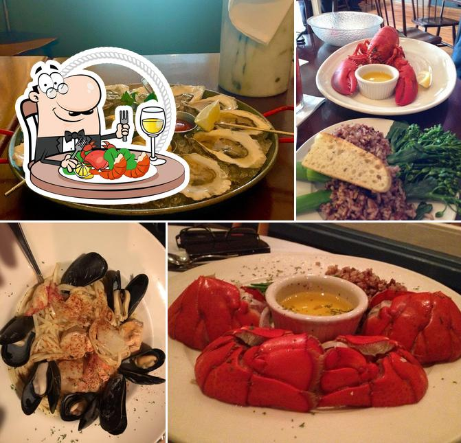 Order seafood at Galyn's