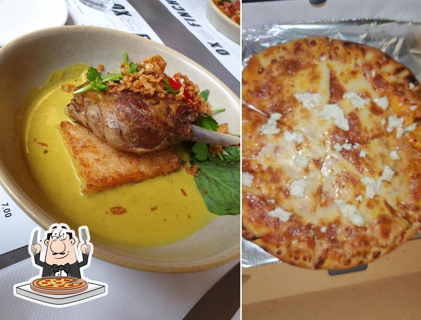 Try out pizza at Ox and Finch