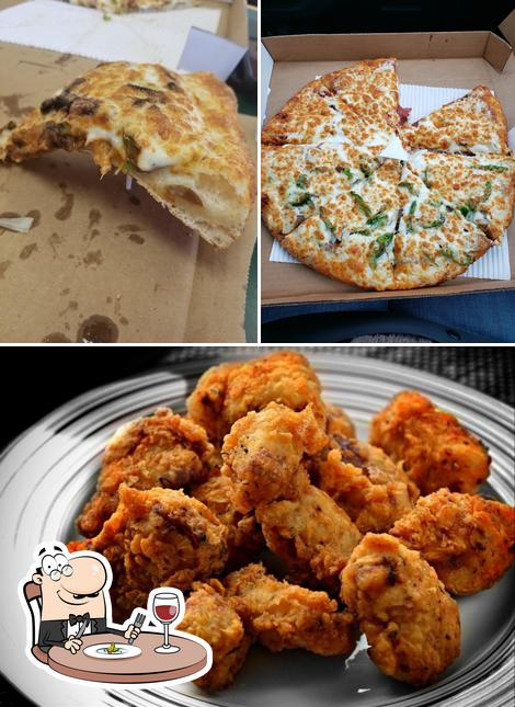 Food at Canadian Pizza