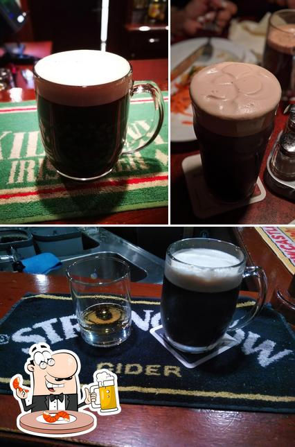 You can get a glass of light or dark beer