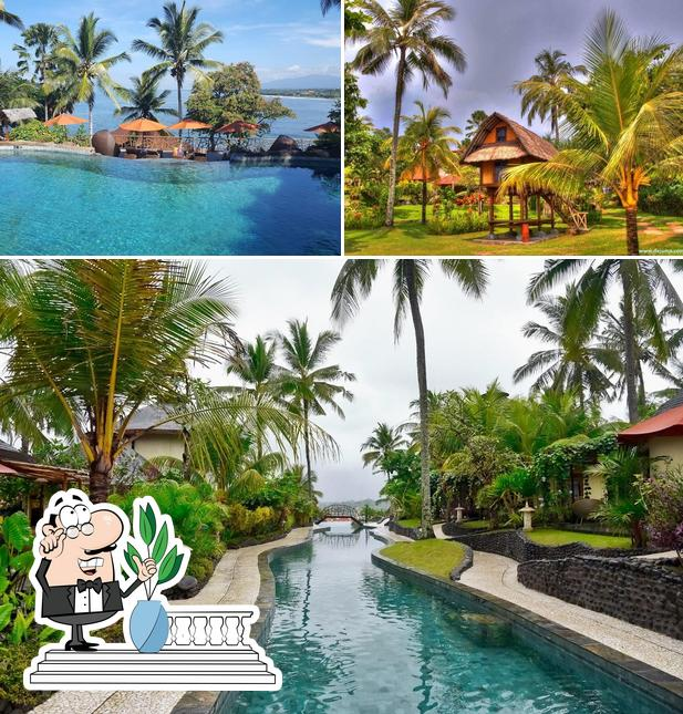 Check out how Puri Dajuma Beach Eco-Resort & Spa looks outside