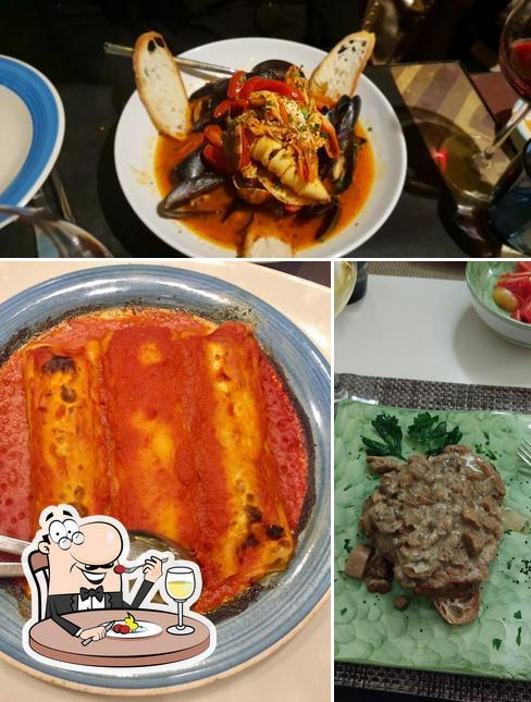 Estas son las imágenes donde puedes ver comida y comedor en Trattoria Dei Mori