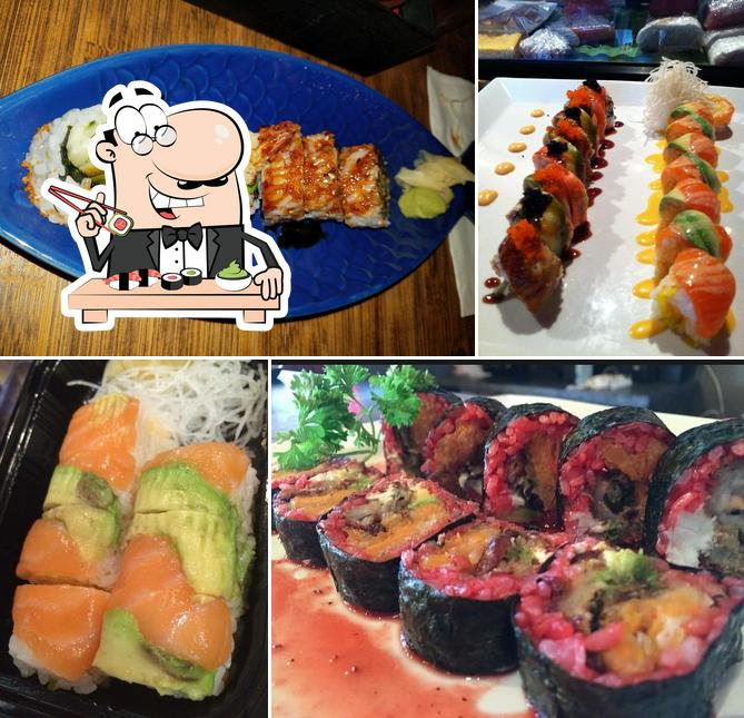 Pick different sushi options
