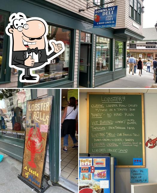 See this picture of Downeast Deli