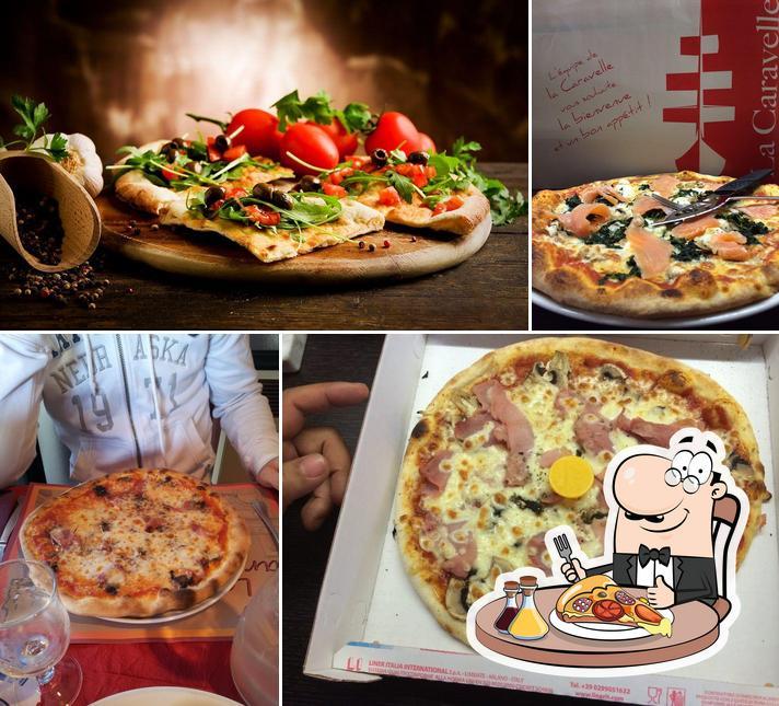 Prenez des pizzas à La Caravelle Restaurant-Pizzeria