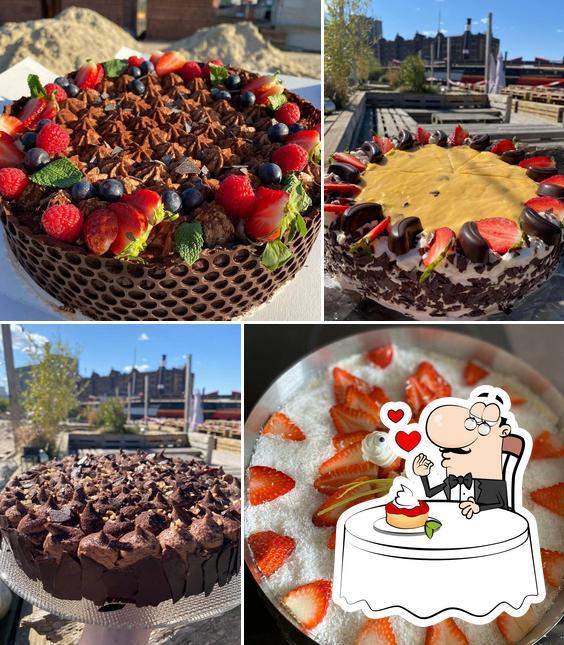 Café Treibgut bietet eine Vielfalt von Desserts