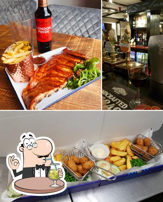 The photo of drink and food at The Swan