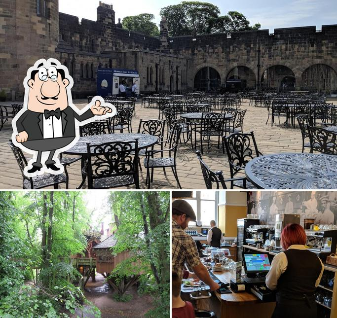 This is the image showing interior and exterior at Alnwick Castle