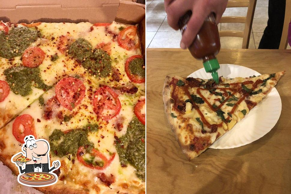 Pick various kinds of pizza