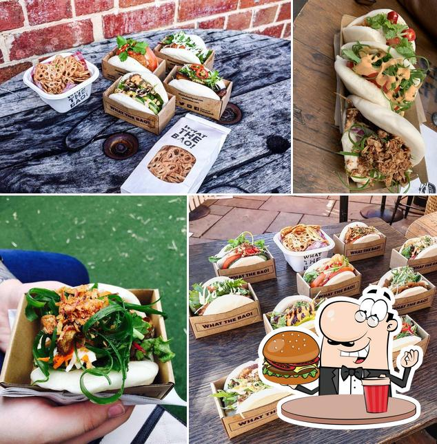 Try out a burger at What The Bao