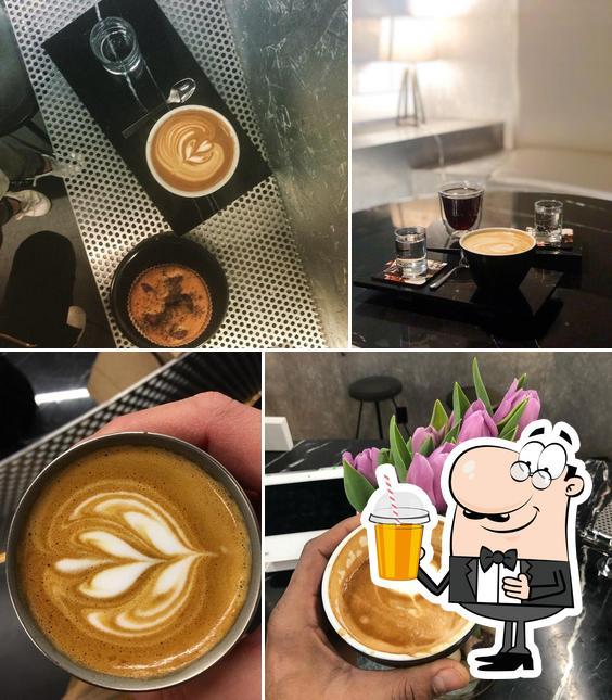 Enjoy a beverage at Voyager Espresso