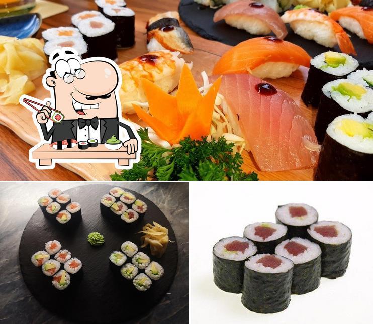 Prenez différentes options de sushi