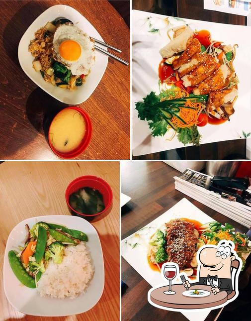 Food at Honkaku Sushi & Thai Restaurant