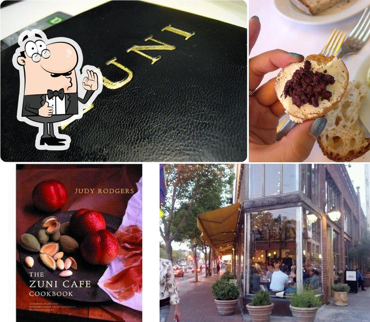 See this pic of Zuni Café