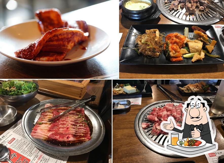 Food at Man Soo Korean BBQ