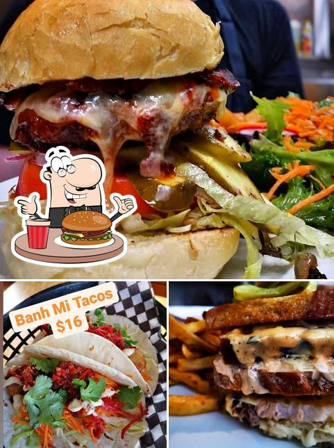 Get a burger at The Wooly Pub