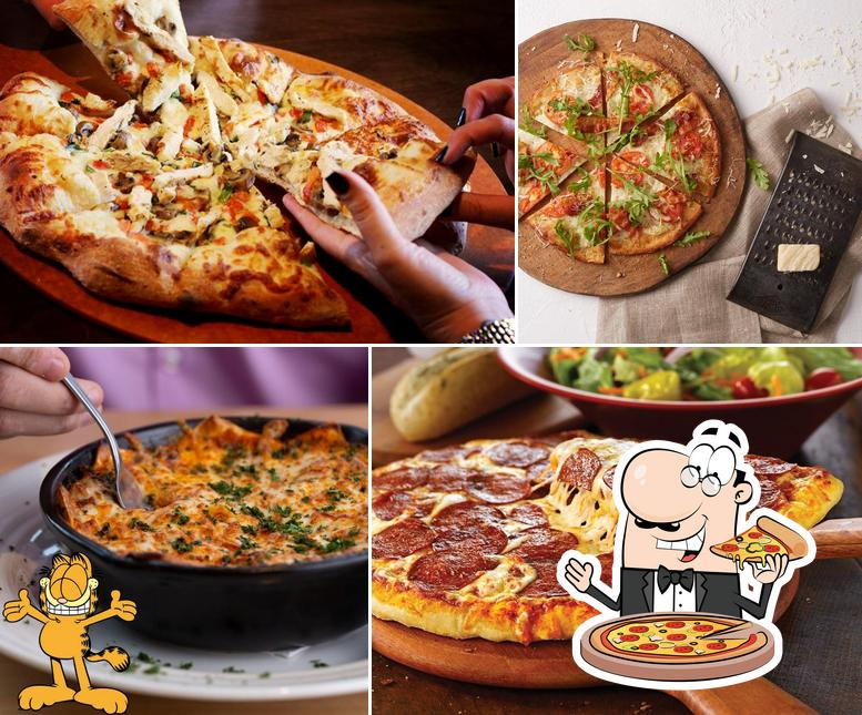 Try out pizza at East Side Mario's
