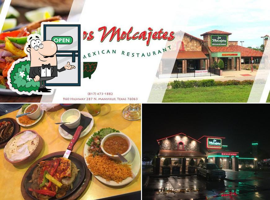 The image of Los Molcajetes's exterior and dessert