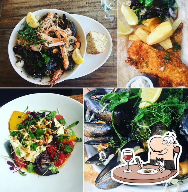 Food at Oceans Restaurant