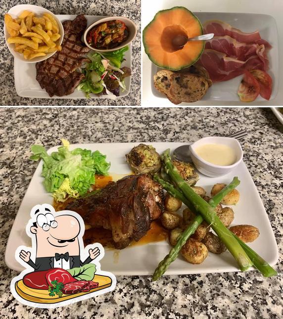Prenez des plats à base de viande à AUBERGE LA BATTEUSE