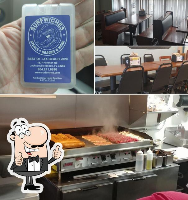 Here's a picture of Surfwiches Steaks Hoagies & More